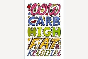 Keto diet lettering