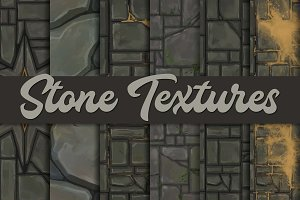 Hand-painted stone textures