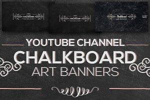 Chalkboard Youtube Channel Banners