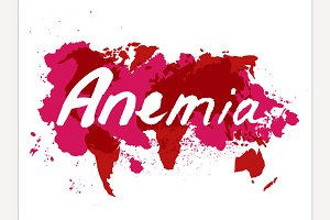 Anemia hand drawn lettering