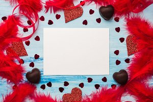Card. Blank space for sweet words of