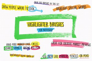 Highlighter Photoshop Brushes