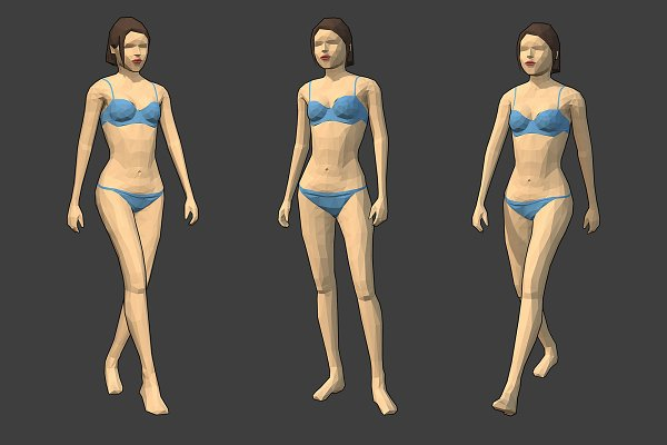 Low Poly Rigged Characters ~ Character Models ~ Creative Market