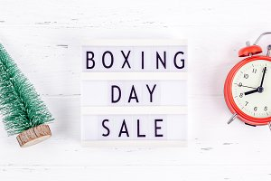 Boxing day sale seasonal promotion