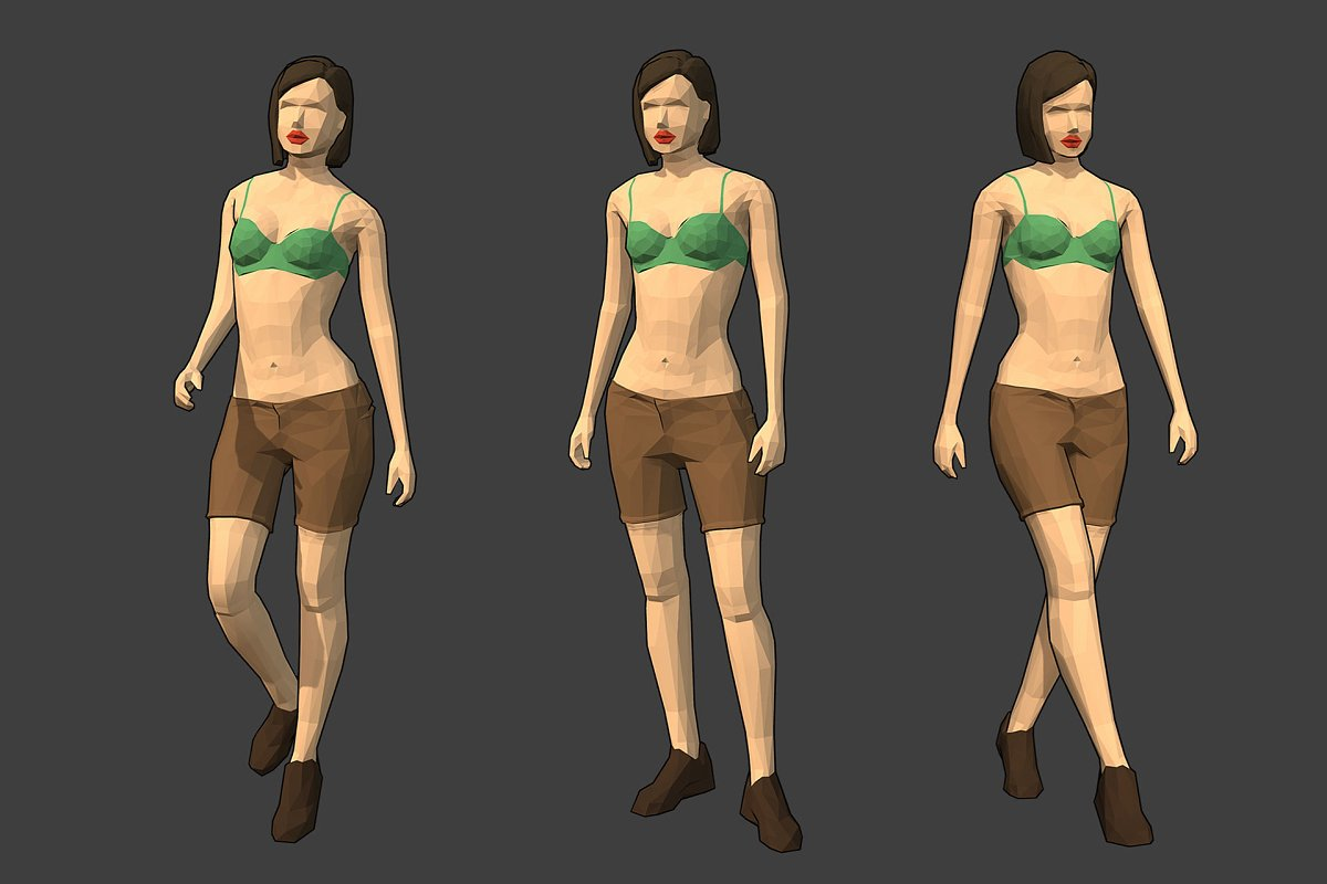 Lowpoly Female Character - Diana