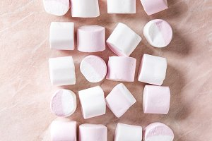 White pink marshmallow
