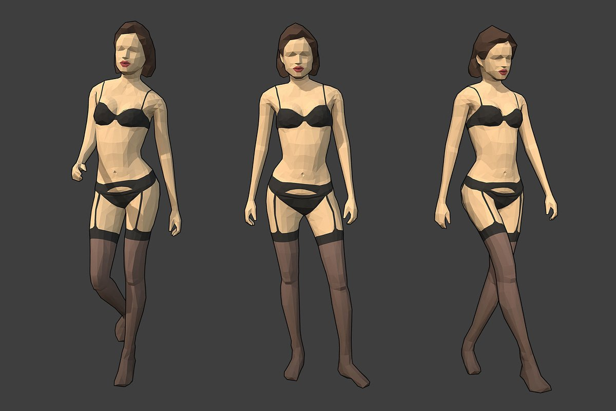 Lowpoly Female Character - Jane