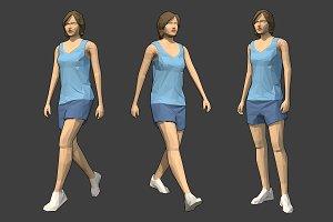 Lowpoly Female Character - Jodi