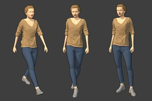 Lowpoly Female Character - Victoria