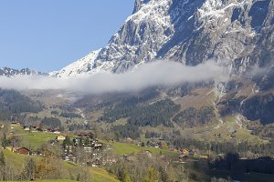 Grindelwald village in Switzerland