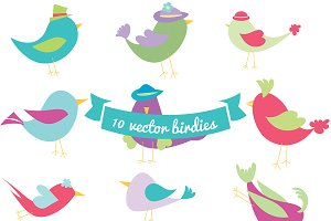 10 Vector Birdies, Vol 1