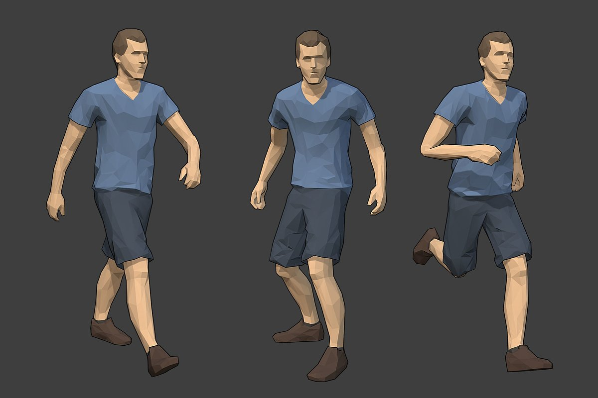 Lowpoly Male Character - Jack