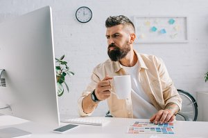 Businessman during work