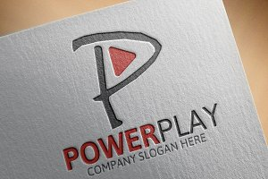 Power Play /P Letter Logo