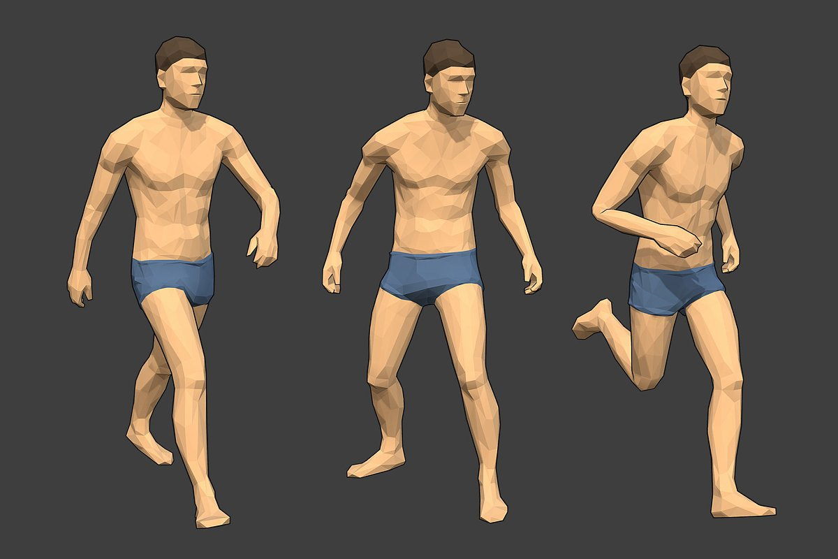 Lowpoly Male Character - Jim