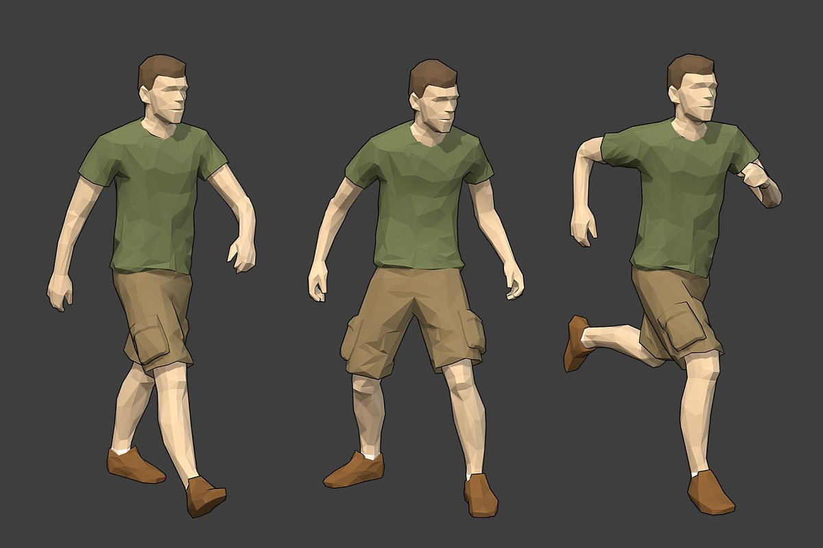 Rigged Lowpoly Male Character - Luke