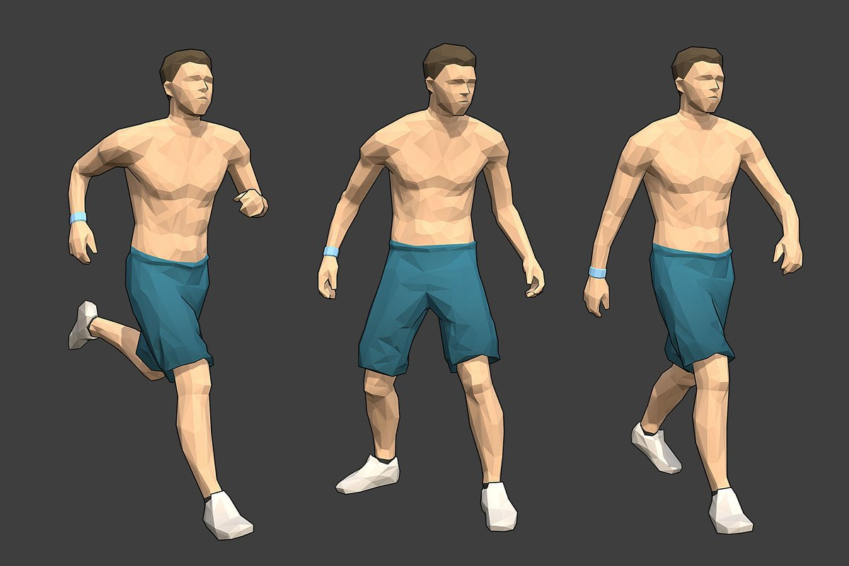 Lowpoly Male Character - Max