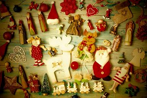 Christmas vintage background