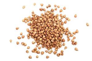 buckwheat grain isolated on white