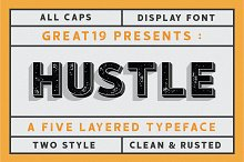 HUSTLE | 5 layers display font by  in Display Fonts