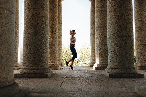 Sports Stock Photos: Jacob Lund - Fitness woman training using skippin