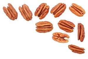 pecan nut isolated on white