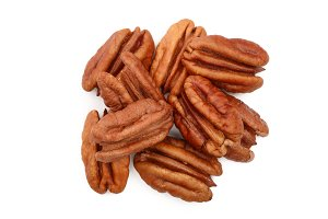 pecan nut decorated isolated on