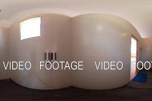interior bathroom in hotel. vr360
