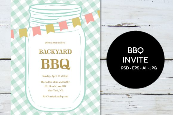 bbq party invitation invitation templates creative market