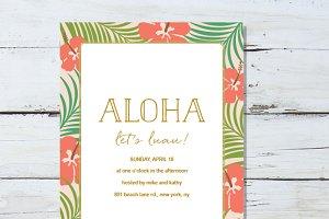 Summer Aloha Invite