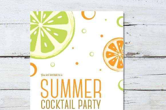 summer cocktail invitation invitation templates creative market