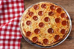 Fresh Homemade Pepperoni Pizza