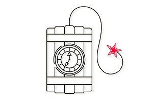 Dynamite line style icon vector