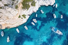 Yachts at the sea in France by  in Transportation