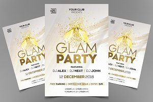 Glam Party - PSD Flyer Template
