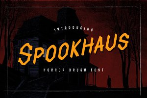 Spookhaus Horror Brush Font