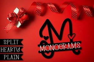 Split Monogram Font Trio