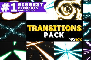 Electric Transitions Motion Graphics