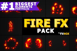 Fire Elements Motion Graphics