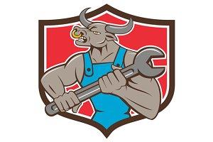 Mechanic Minotaur Bull Spanner Shiel