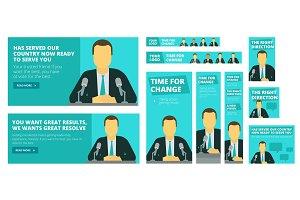 Political election campaign