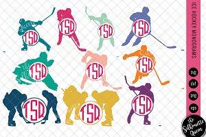Ice Hockey Svg Monogram