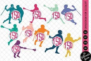 Lacrosse Svg Monogram, Circle Frames