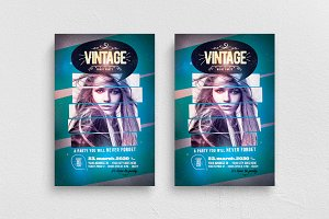 Vintage Night Flyer Template