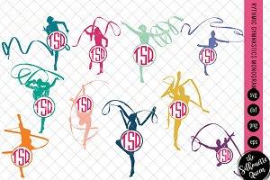 Gymnastics Svg Monogram