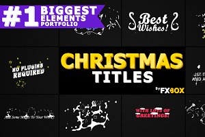 Christmas Titles After Effects