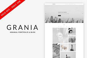 Grania - Minimal Portfolio WordPress
