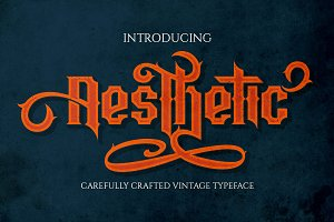 Aesthetic - vintage typeface