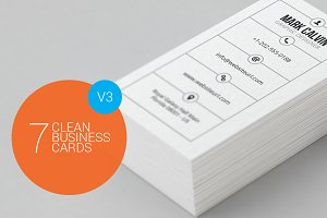 7 Clean Minimal Business Cards - V3