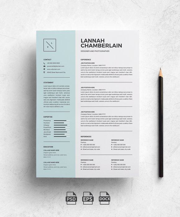 clean resume template 2 pages resume templates creative market